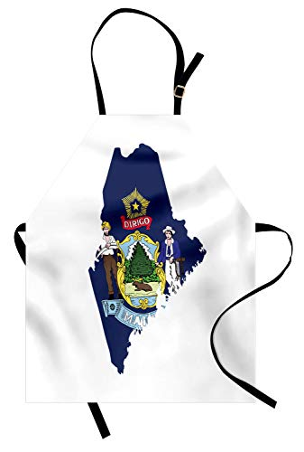 Farmer Costumes Images - Lunarable Maine Apron, Pine Tree State