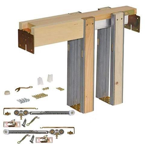 Johnson Hardware 153068SC Commercial Grade Pocket Door Frame (36″ x 80″) Soft Close