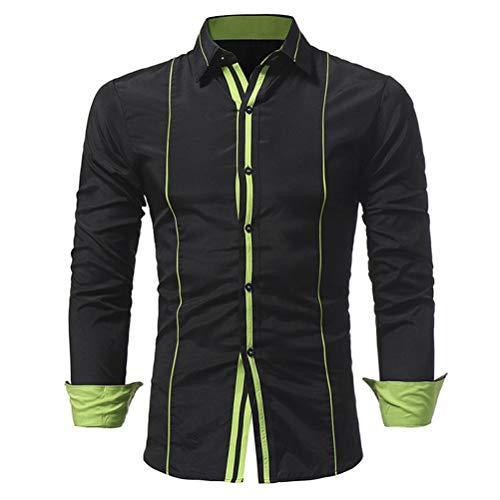Sweat À Avec Manches Boutons shirt Ujunaor Noir 2 Longues Logo Tailleur Homme Capuche Col FanWqWxd