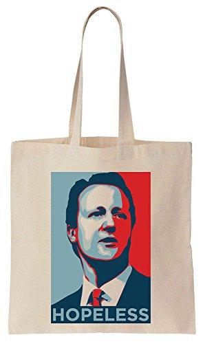 David Cameron HOPELESS Brexit Poster Sacchetto di cotone tela di canapa