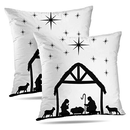 Soopat Decorative Throw Pillow Cover Square Cushion 16