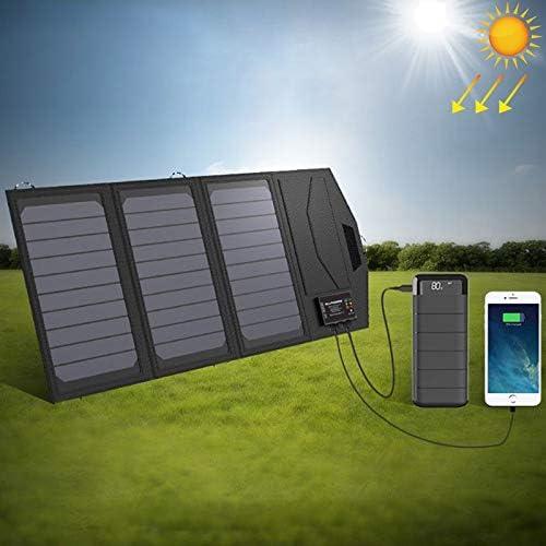 太陽光発電 太陽電池パネルの太陽電池充電器携帯用5V 15WデュアルUSB +タイプCポータブルソーラーパネル充電器アウトドア折り畳み式のソーラーパネル 屋外/旅行に適しています