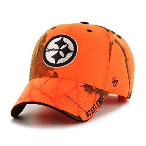 '47 NFL Pittsburgh Steelers Realtree Frost MVP Adjustable Hat, One Size, Blaze Orange Realtree - Pennant Steelers Pittsburgh