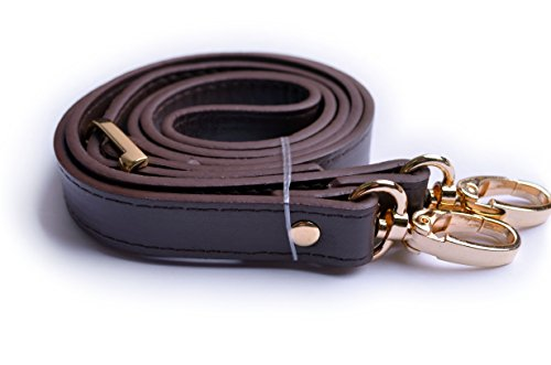 - Wento 1pcs 43''-49'' Dark Brown Faux Leather Adjustable Bag Strap,soft vinyl Leather Shoulder Straps,replacement Cross Body Purse Straps,handbag Bag Wallet Straps (Gold)