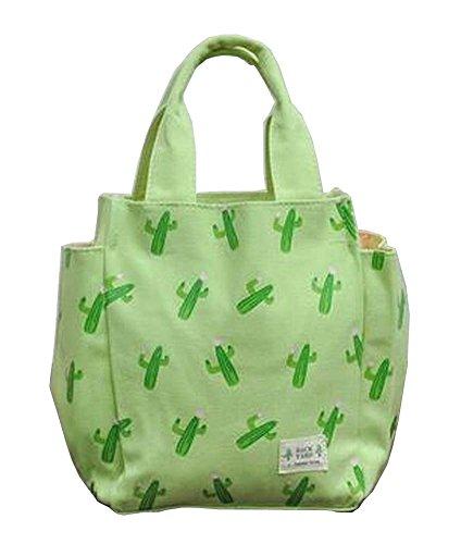 Canvas Lunch Bag Bento Bag Reusable Tote Bag Picnic Bag