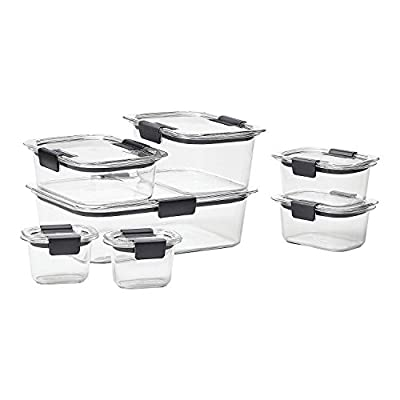 Rubbermaid Brilliance Food Storage Container, BPA-free Plastic, Mini, 0.5 Cup, 4-Piece, Clear from Rubbermaid