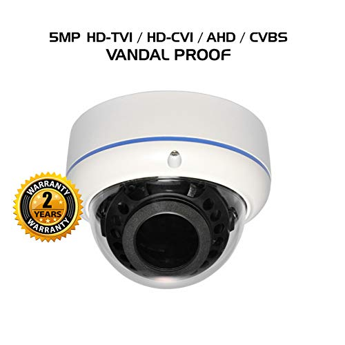 - Ares Vision 4 in 1 5MP AHD,TVI,CVI, or Analog CCTV Camera w/IR Night Vision & Vandal Proof Glass