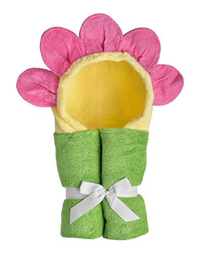 Yikes Twins Child Hooded Towel - (Flower Hooded Towel)