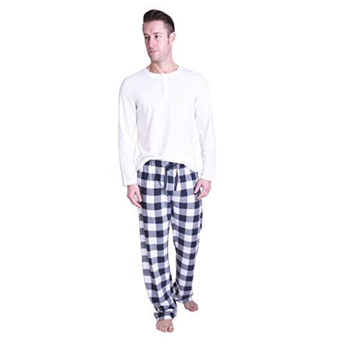 CHEROKEE Men's 2 Piece Pajama Set, Check Mate, XL (Cherokee Check)