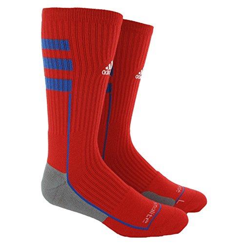 Adidas Nylon Crew Socks (Adidas Men's Team Speed Traxion Crew Socks Large (9.5 - 12) Red Blue)