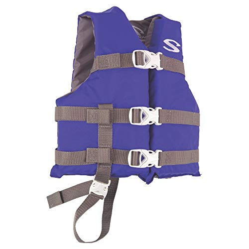 Stearns 3000004471 PFD 3004 Child Poly Boating Blu (Buckle Vest Mens 4)