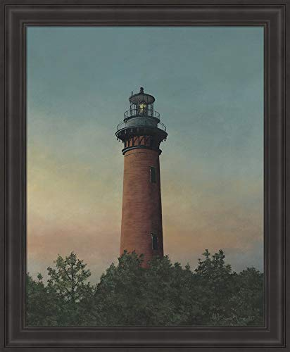 - Currituck Beach Lighthouse by David Knowlton Fine Art Print with Wood Box Frame and Glass Cover, 19 x 23 inches