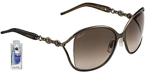 Gucci 4250/N/S 0TUV J6 Bronze/Brown Gradient Butterfly Sunglasses Bundle-2 Items