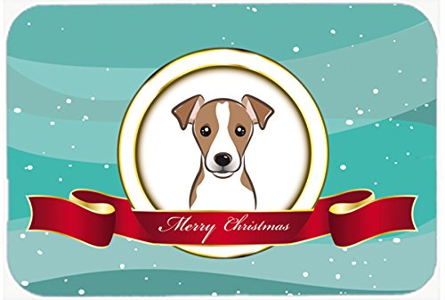 Carolines Treasures BB1570LCB Jack Russell Terrier Merry Christmas Glass Cutting Board, Large B017QIW5O2