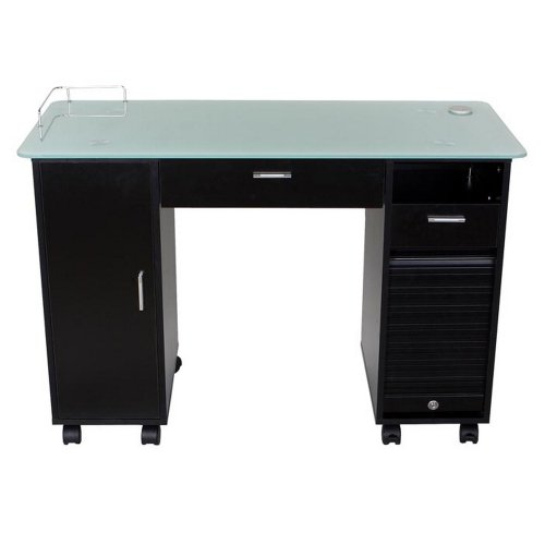 Icarus ''Superb'' Black Manicure Nail Table Station by Icarus (Image #3)