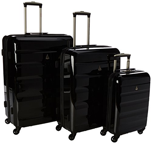 Aerolite Juego de maletas, negro (Negro) – PCF715 BLACK 3 PCS SET