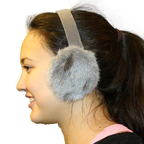 Glacier Wear Jaguar Mink Ear Muffs - Silver Dyed