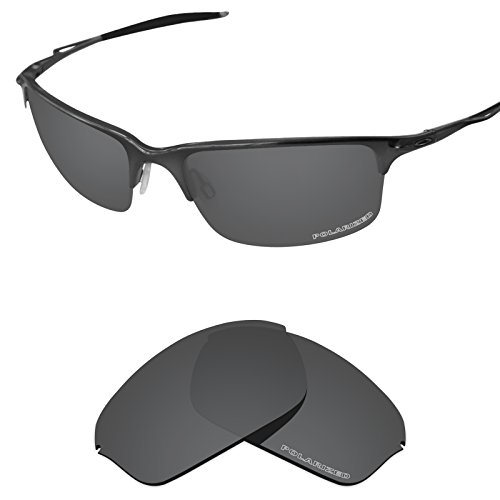 Tintart Performance Lenses Compatible with Oakley Half Wire 2.0 Polycarbonate Polarized Etched-Carbon Black