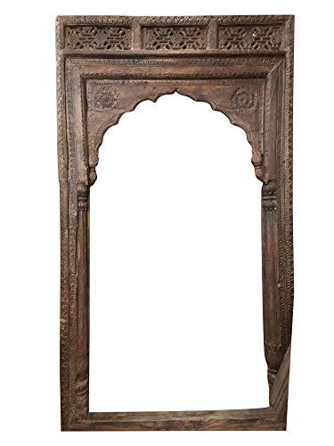 Mogul Interior Antique Doorway Anglo Indian Arches Architecture Veranda Rustic Teak 98x56