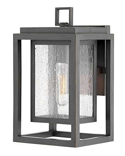Hinkley Bronze Outdoor Lighting - Hinkley 1000OZ Republic Outdoor Wall Sconce, 1-Light, 100 Watts, Oil Rubbed Bronze