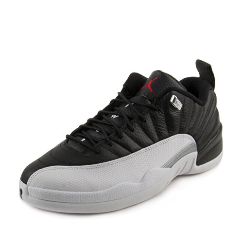 Jordan Air 12 Retro Low Men's Shoes Black/White/Metallic Silver/Varsity Red 308317-004 (11.5 D(M) US) (Air Xii Jordan Retro Low)