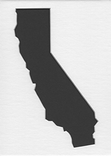 ifornia State Stencils Made from 4 Ply Mat Board 12x12, 8x8, 6x6 ()
