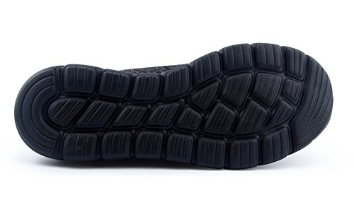 Lanbaosi Kvinna Sticka Löparskor Andas Atletisk Sport Sneakers Svart