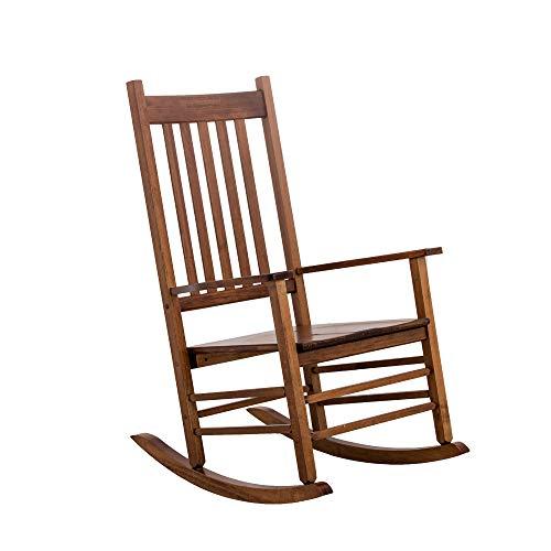 B&Z KD-25N Rocking Chair Wooden Porch Heirloom Rocker Outdoor Indoor Natural Oak (Chair Wooden Indoor Rocking)