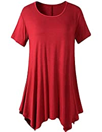 YMING Womens Swing Tunic Tops Loose Fit Comfy Flattering T Shirt