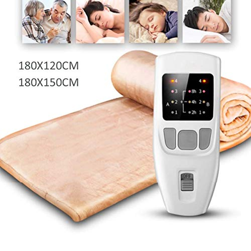 FMXYMC 180cm Electric Blanket Dual Heating Body Warmer Bed Electric Heater Pad Winter Mattress Carpet W/Temperature Timing Controller