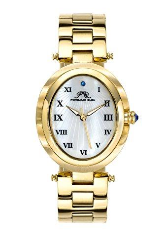 Porsamo Bleu Luxury South Sea Oval Stainless Steel Champagne Women's Watch 105BSSO