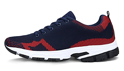 Trainers Women's Lace DENGBOSN Walk up Breathable Fashion Running Gym Sneakers Shoes Blue Shoes Athletic 7qxqvdfwT