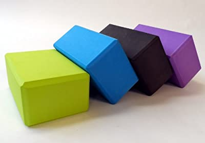 Yoga Block 1 or 2 pack 4 in. x 6 in. x 9 in. Larger Size High Quality 4 colors by Bean Products from Bean Products