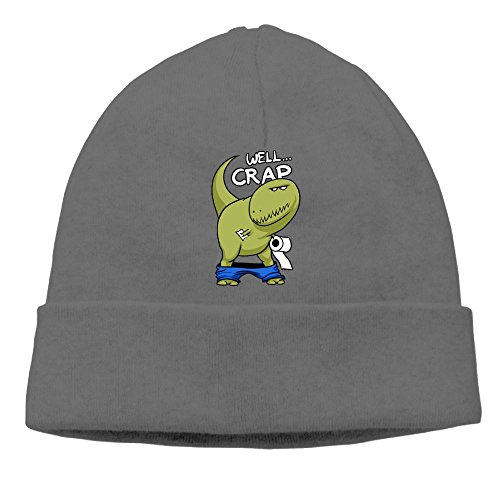 Hat Costume Backwards (Uanjuzn Well Crap Dinosaur Men/Women Cool Fashion Hedging Hat Wool Beanies Cap)