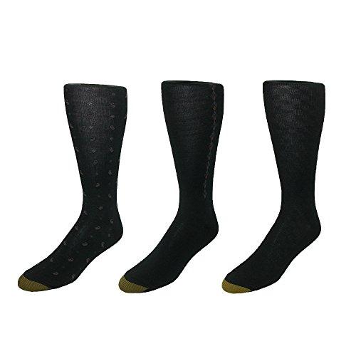 the Calf Dress Socks (Pack of 6), Black (Gold Toe Bamboo)