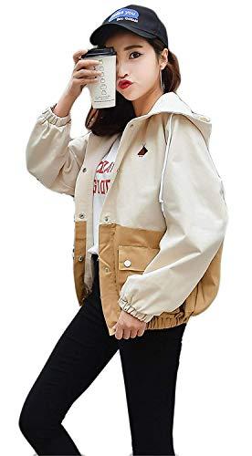 Elegante Chaqueta De Anchos Abrigos Abrigos Cazadoras Temporada Chaqueta Grandes Modernas Khaki Huixin Otoño Boyfriend Señoras Mujer Casual Abrigos Tallas Outwear Corto qtxHpn