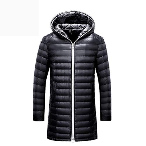 Taille Ultra Fourrure Noir Duvet Longue Veste Hommes Srl Canard 66 Pour Noir Manteau couleur Xxl Mince De BCFHwxq