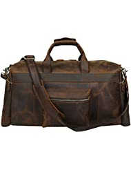 Travel Duffle Luggage Bag Iswee Vintage Luggage Airplane Underseat Bag for Men