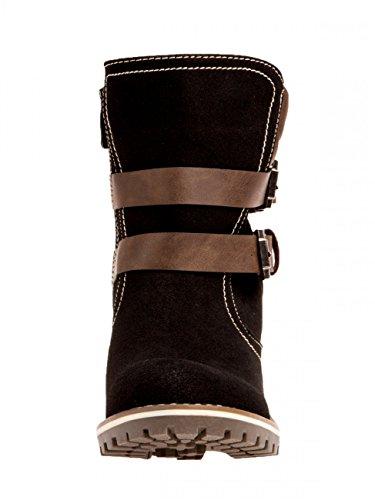 CASPAR Fashion - Botas de ante para mujer Negro - negro