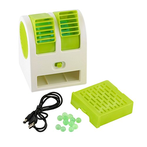 USB Electric Air Conditioning Mini Fan Air cooler (Green) - 1