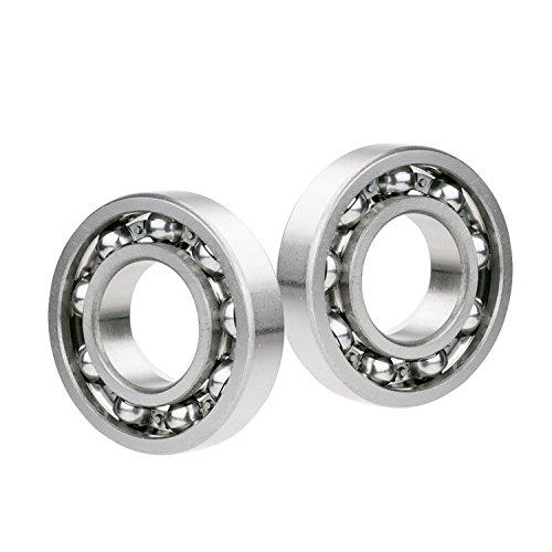 - 2x 606-OPEN Ball Bearing 6mm x 17mm x6mm Premium Open Deep Groove