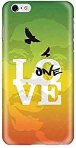 Stylizedd Apple iPhone 6Plus Premium Slim Snap case cover Matte Finish - One Love