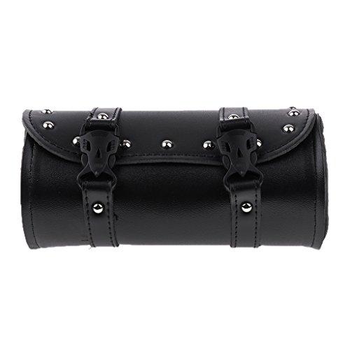 - Baoblaze Motorcycle Tool Bag Luggage Saddlebag Roll Barrel Storage for Harley-Black
