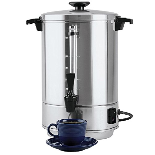 """Focus Foodservice 58055R Aluminum West Bend Coffee Makers, 58000 Series, 55 Cup, 1500 Watts, 120V, 60Hz, 17"""" x 13-5/16"""" x 13-13/32"""""""