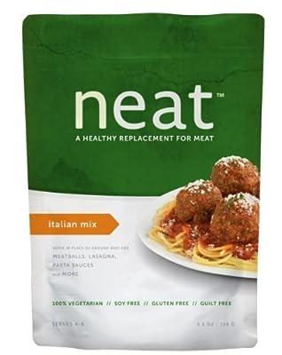 Neat: Gluten Free Italian Mix Meat Substitute 5.5 Oz (6 Pack)