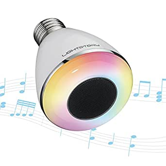 lightstory bluetooth light bulb speaker e26 base 8w 6500k