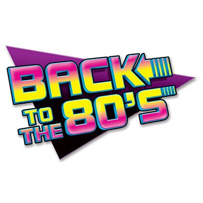 Beistle 54311 1-Pack Back To The 80's Sign Party Decorations, 15-1/2-Inch by 24-Inch -