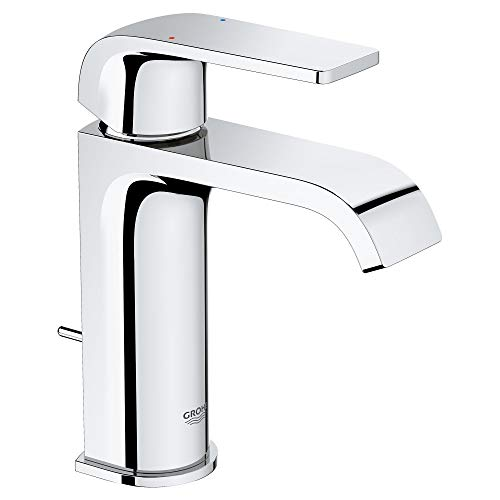 Grohe 23868000 Defined 1.2 GPM Single Hole Bathroom Faucet with Pop-Up Drain Assembly, SilkMove and EcoJoy Technologies