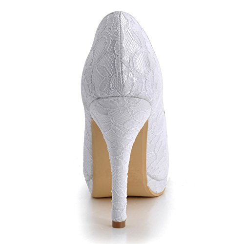 Kevin Fashion , Chaussures de mariage tendance femme - Blanc - Style2-White, 43