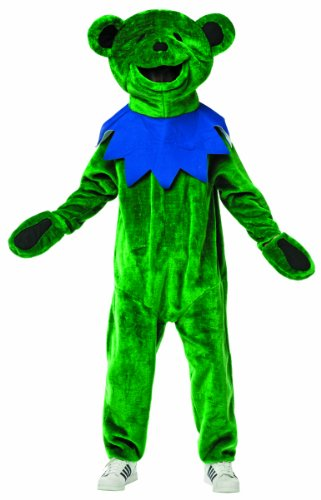 [Rasta Imposta Grateful Dead Dancing Bear Costume, Green, Teen Size 13-16] (Bear Head Costume Amazon)